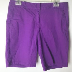 J Crew Solid Purple Bermuda Shorts Women's Size 4